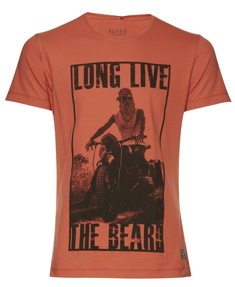 Blend Slim fit, schmale Form, T-Shirt in Rot
