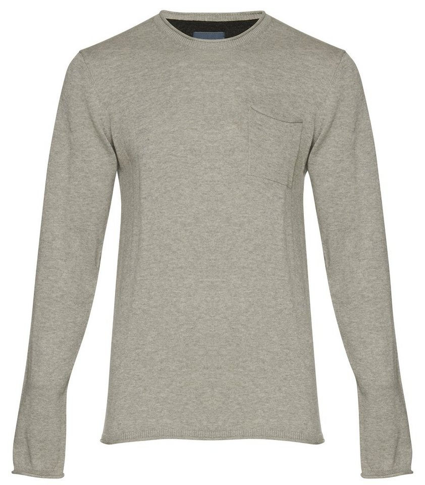 Blend Slim fit, schmale Form, Pullover in Grau