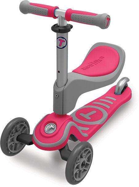 SmarTrike® Scooter mit Federstahlbremse, »T1 pink«