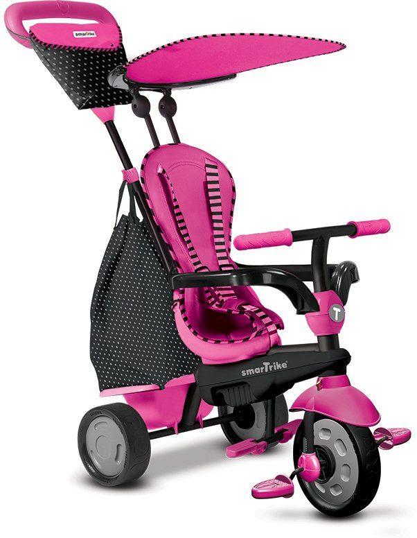 SmarTrike® Dreirad mit abnehmbarem Sonnenschutz, »Glow Touch Steering® 4 Trikes in 1 pink«