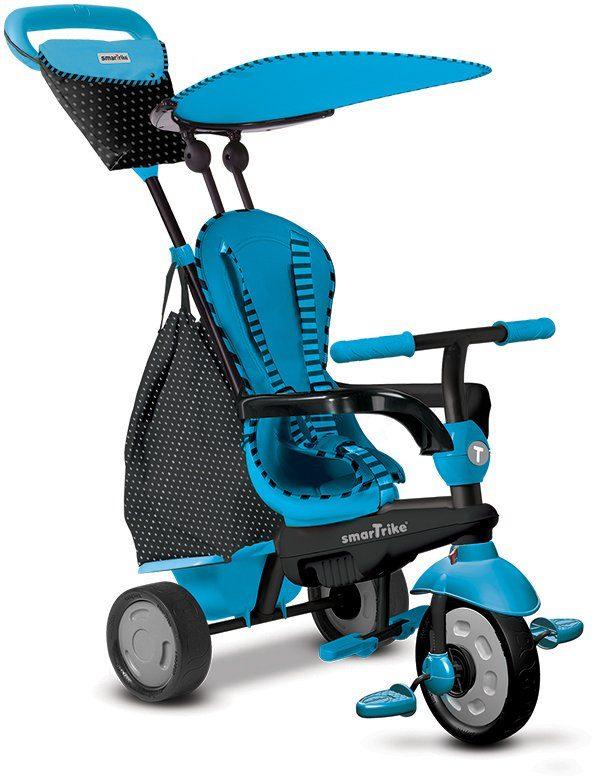 SmarTrike® Dreirad mit abnehmbarem Sonnenschutz, »Glow Touch Steering® 4 Trikes in 1 blau«