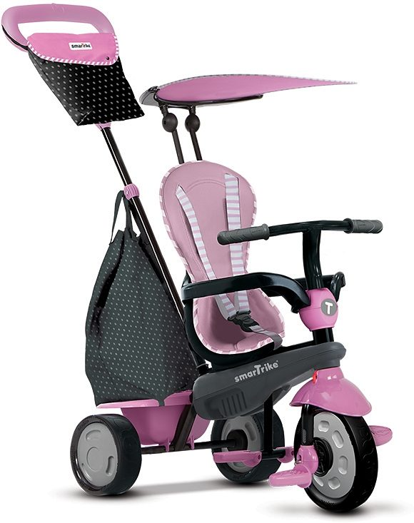 SmarTrike® Dreirad mit abnehmbarer Schubstange, »Shine Touch Steering® 4 Trikes in 1 pink«