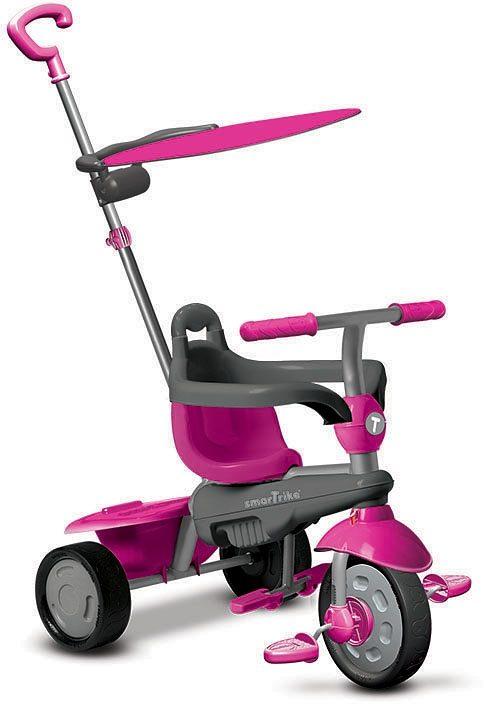 SmarTrike® Dreirad mit Sonnenschutzdach, »Carnival Touch Steering® 3-in-1 Trike pink«