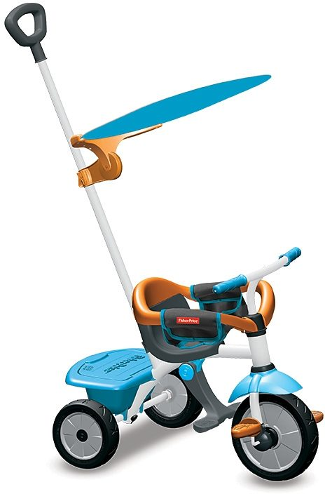 Fisher Price Dreirad mit Sonnenschutzdach, »Baby Trike Jolly Plus blau«