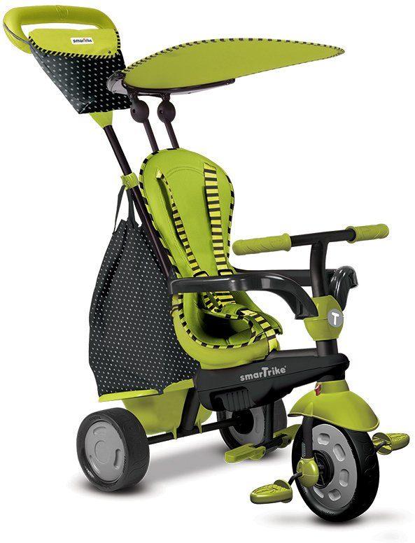 SmarTrike® Dreirad mit abnehmbarem Sonnenschutz, »Glow Touch Steering® 4 Trikes in 1 grün«