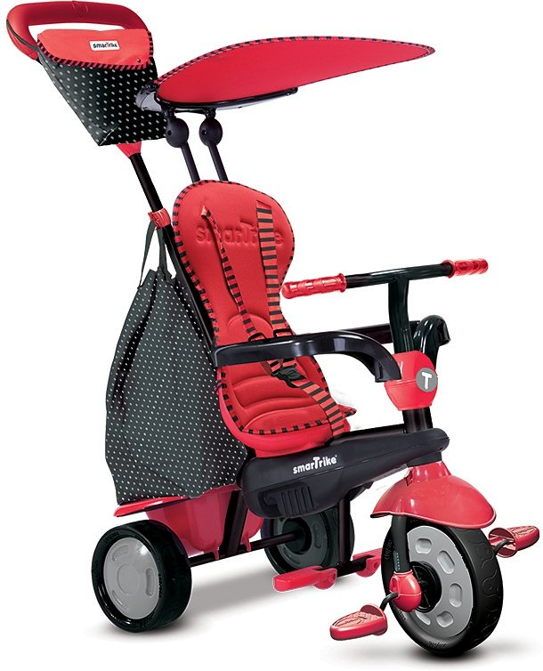 SmarTrike® Dreirad mit abnehmbarem Sonnenschutz, »Glow Touch Steering® 4 Trikes in 1 rot« in rot