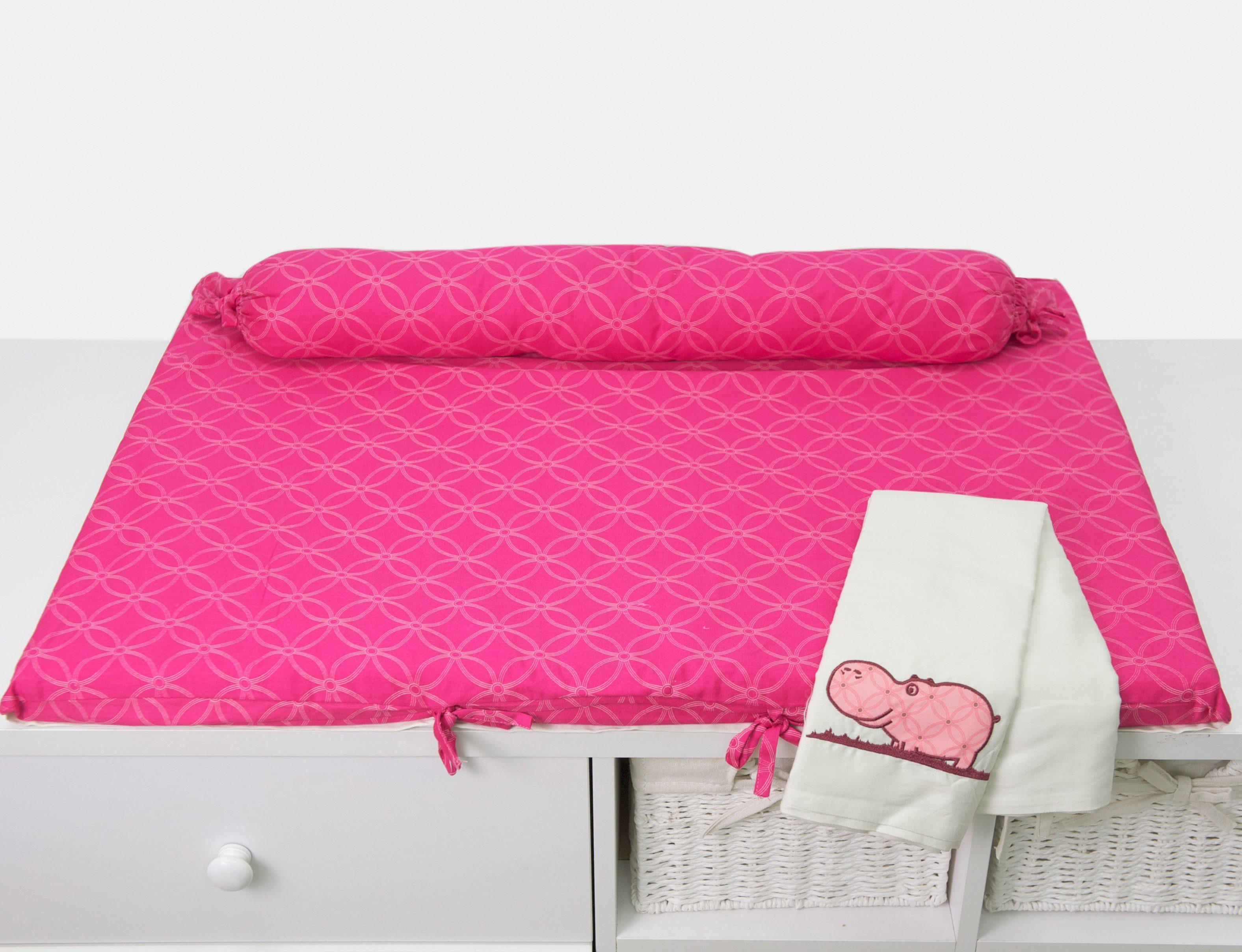 SmarTrike® Wickelauflage mit Rolle, »toTs Wickelmatte Joy Hippo pink«