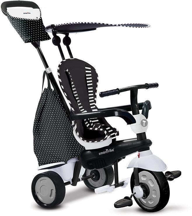 SmarTrike® Dreirad mit abnehmbarem Sonnenschutz,  Glow Touch Steering® 4 Trikes in 1 schwarz weiß  online kaufen