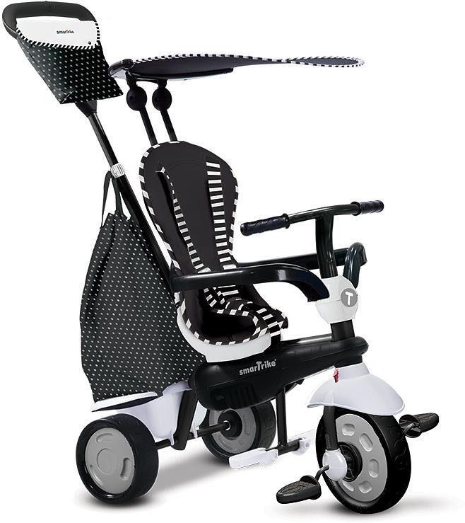 SmarTrike® Dreirad mit abnehmbarem Sonnenschutz, »Glow Touch Steering® 4 Trikes in 1 schwarz weiß«