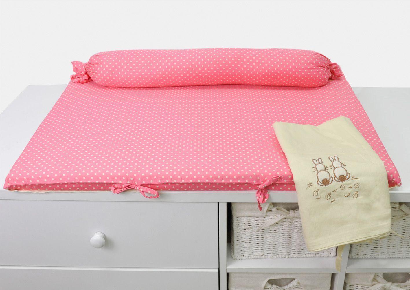 SmarTrike® Wickelauflage mit Rolle, »toTs Wickelmatte Joy Rabbit pink«