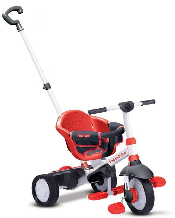 SmarTrike®Dreirad mit einklappbaren Fußstützen, »Fisher Price Charm rot«