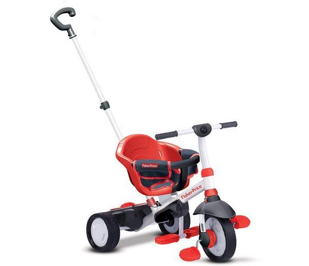 Fisher Price Dreirad mit einklappbaren Fußstützen, »Charm rot«