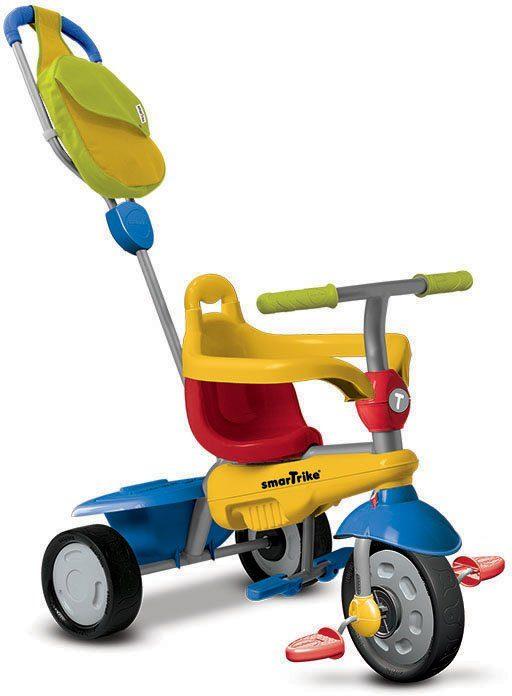 SmarTrike® Dreirad mit Stoßdämpfer, »Breeze GL Touch Steering® 3 Trikes in 1, blau/gelb/rot«