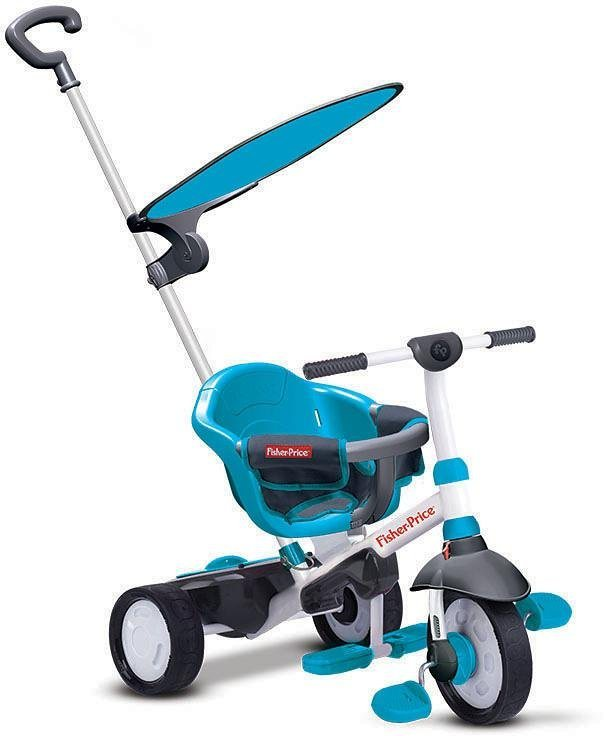 Fisher Price Dreirad mit Sonnenschutzdach, »Charm Plus blau« in blau