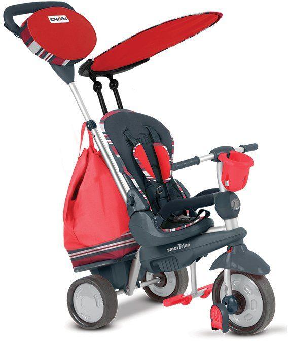 SmarTrike® Dreirad mit abnehmbarem Sonnenschutz, »Splash 5 Trikes in 1 rot«