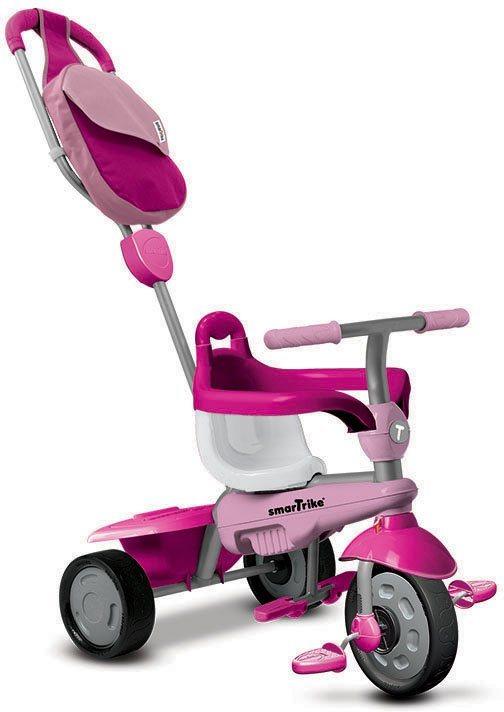 SmarTrike® Dreirad mit Stoßdämpfer, »Breeze GL Touch Steering® 3 Trikes in 1, pink« in pink