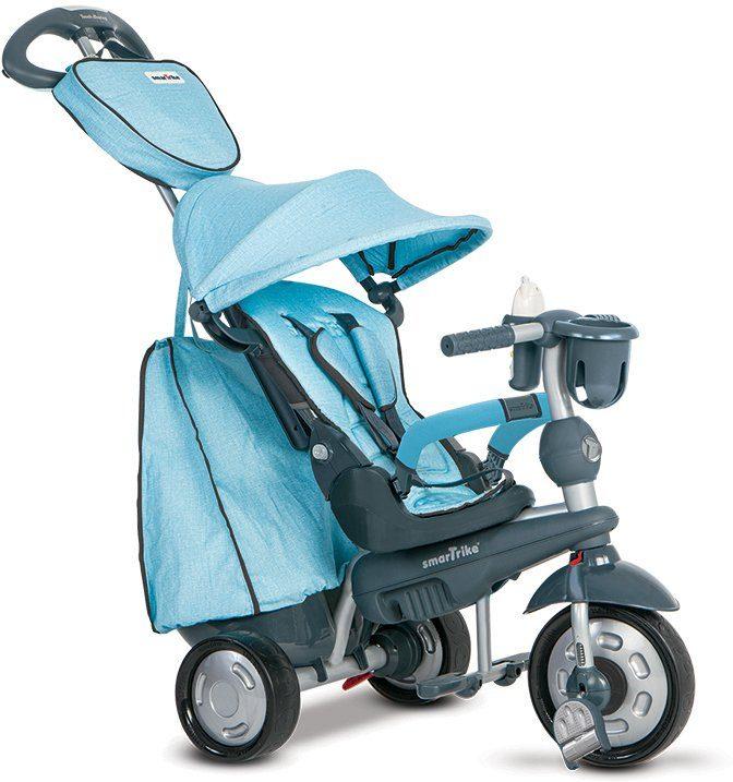 SmarTrike® Dreirad mit verstellbarem Sonnenschutzdach, »Explorer 5 Trikes in 1 blau«