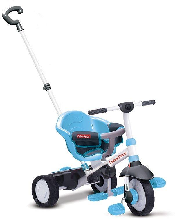 Fisher Price Dreirad mit einklappbaren Fußstützen, »Charm blau« in blau