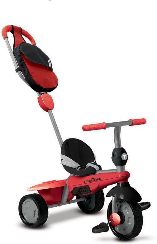 SmarTrike® Dreirad mit Stoßdämpfer, »Breeze GL Touch Steering® 3 Trikes in 1, rot«