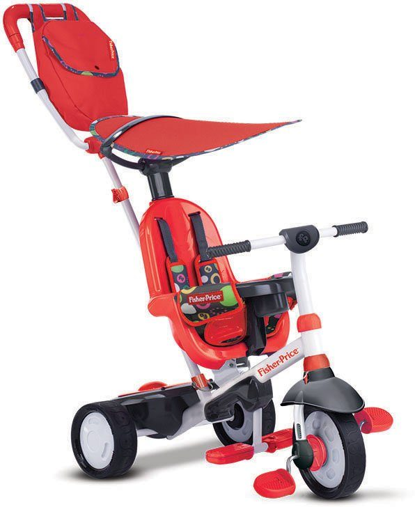 SmarTrike®Dreirad mit Elternkontrolle, »Fisher Price Charisma rot«