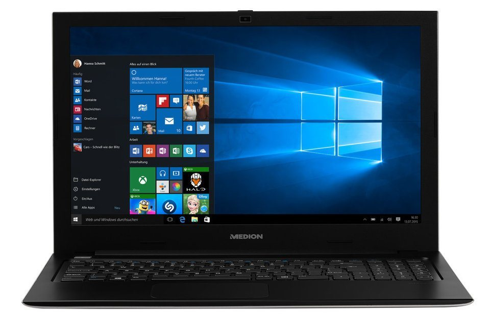 "MEDION® AKOYA® S6219 15,6"" Notebook MD 99894 »Intel® Pentium®, 500GB SSHD, 4GB RAM« in Schwarz"