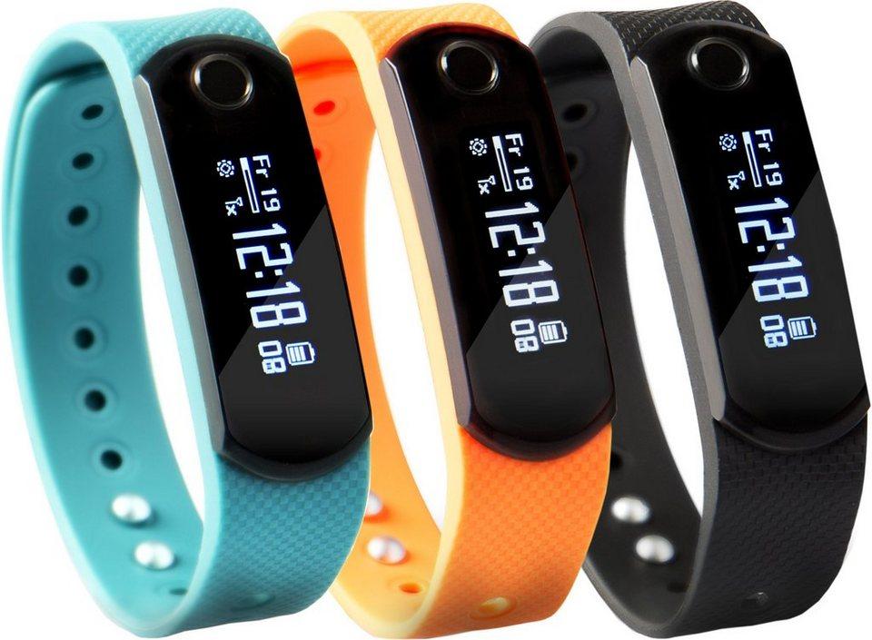 Sportplus Brustgurt & Activity Tracker, Kombi-Set, »SP-AT-BLE-20-SET« in schwarz-orange-blau
