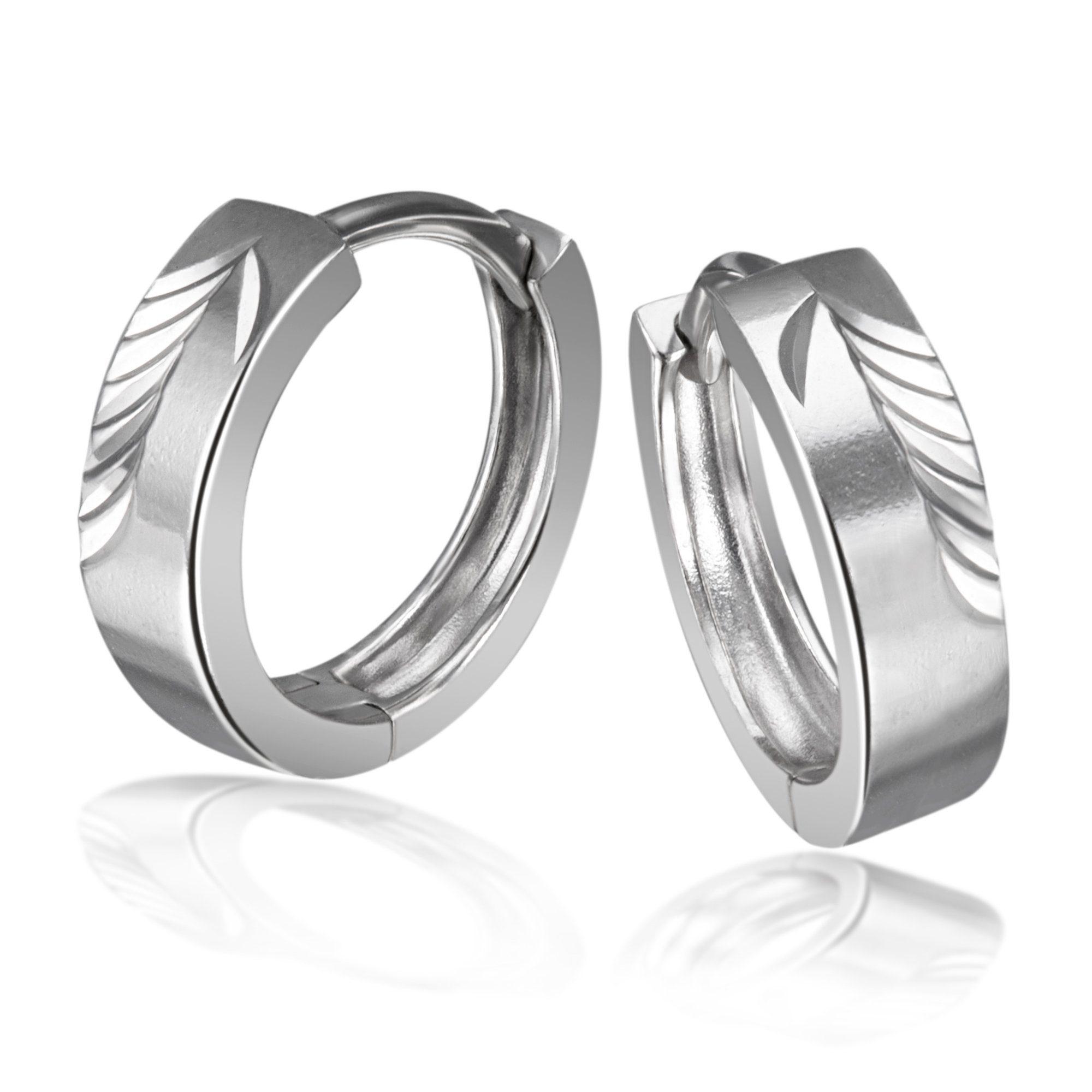 Averdin Paar Creolen 925/- Sterlingsilber diamantiert