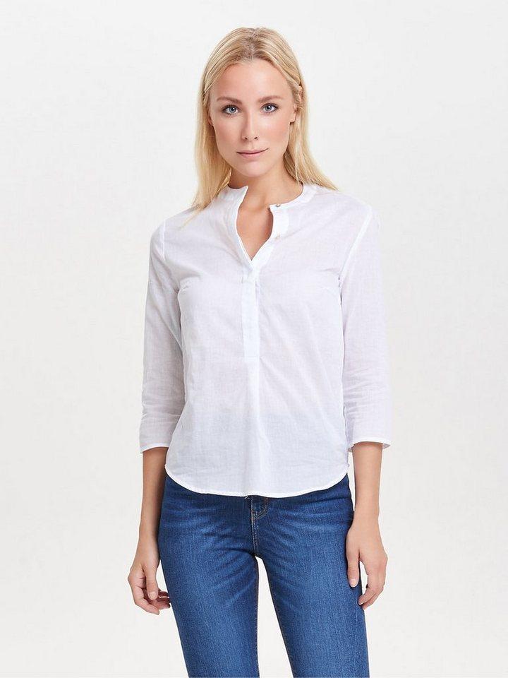 Only Lässiges Hemd mit 3/4 Ärmeln in Bright White