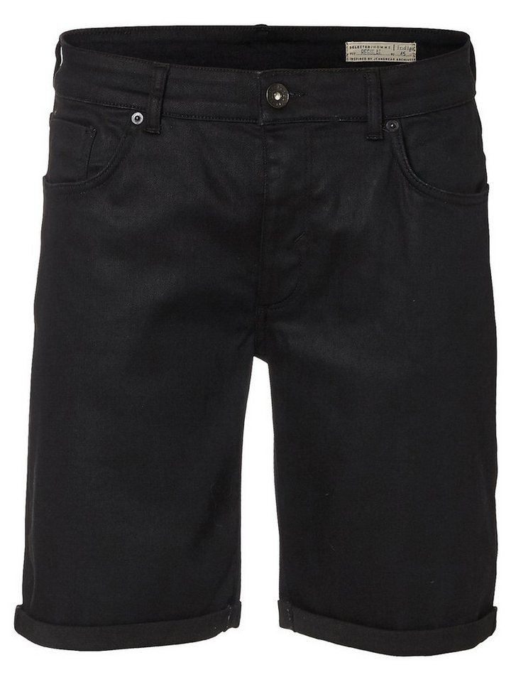 Selected Schwarze Jeansshorts in Black