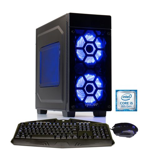 Hyrican Gaming PC Ryzen™ 5 2600X, 16GB, SSD + HDD, GeForce® GTX 1070 »Striker 6188«