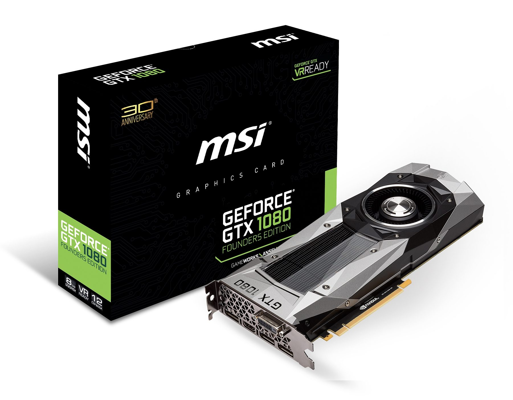 MSI Grafikkarte NVIDIA GeForce® GTX 1080 8GB GDDR5X »V801-1289R«