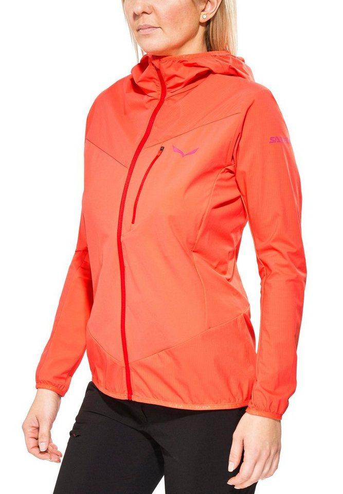 Salewa Softshelljacke »Pedroc Hybrid 2 DST/PTX Jacket Women« in orange