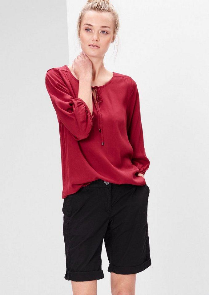 s.Oliver RED LABEL Smart Short: Leichte Baumwollshorts in black