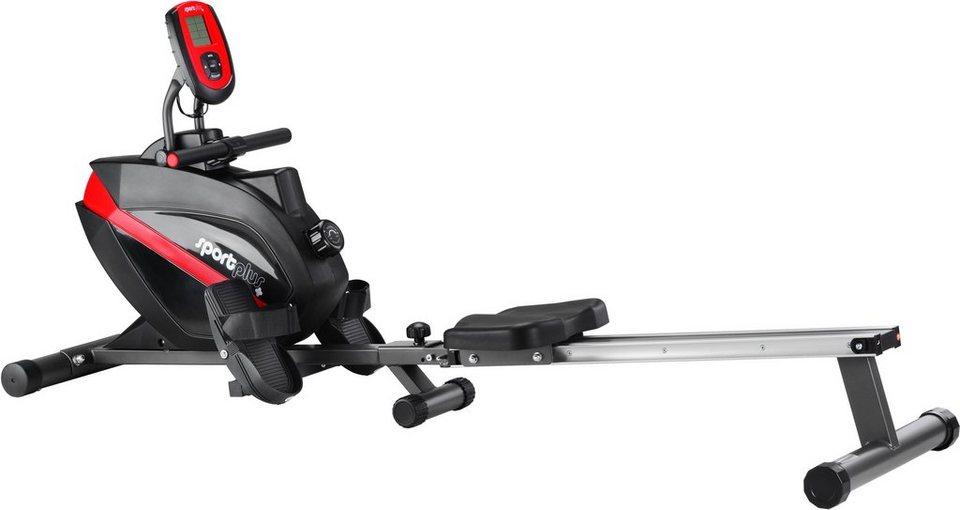 Sportplus Rudermaschine mit integr. Pulsgurtempfänger, »SP-MR-008-B« in schwarz-rot
