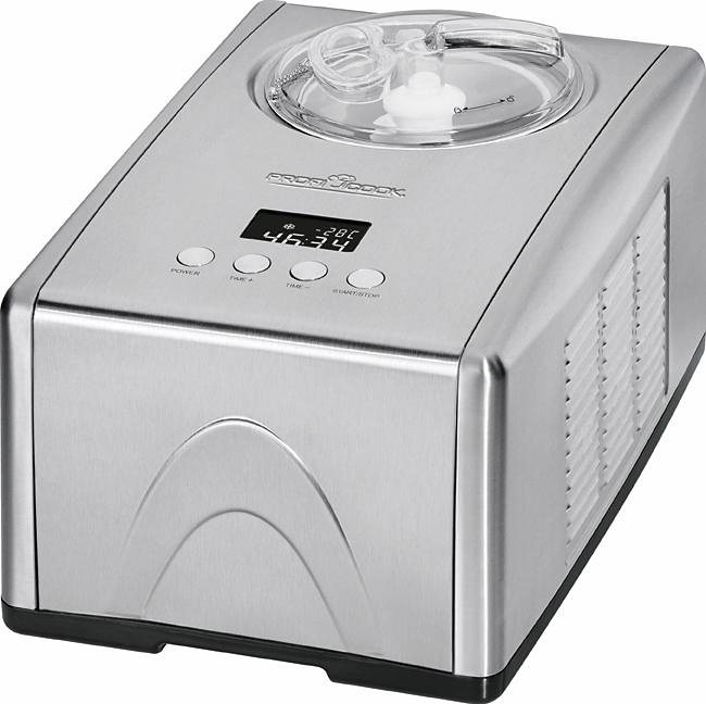 ProfiCook Eismaschine PC-ICM 1091, für 1,5 Liter Eiscreme, 150 Watt in inox