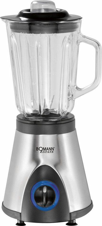 Bomann Edelstahl-Universalmixer UM 1354 CB ESTATE 1,5L 600 Watt in inox-schwarz