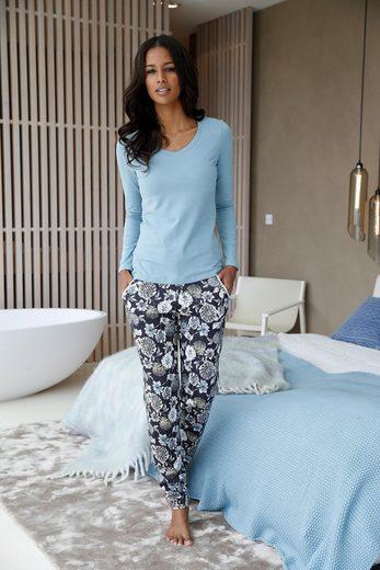 CALIDA Relaxhose May mit Allover-Blumenprint