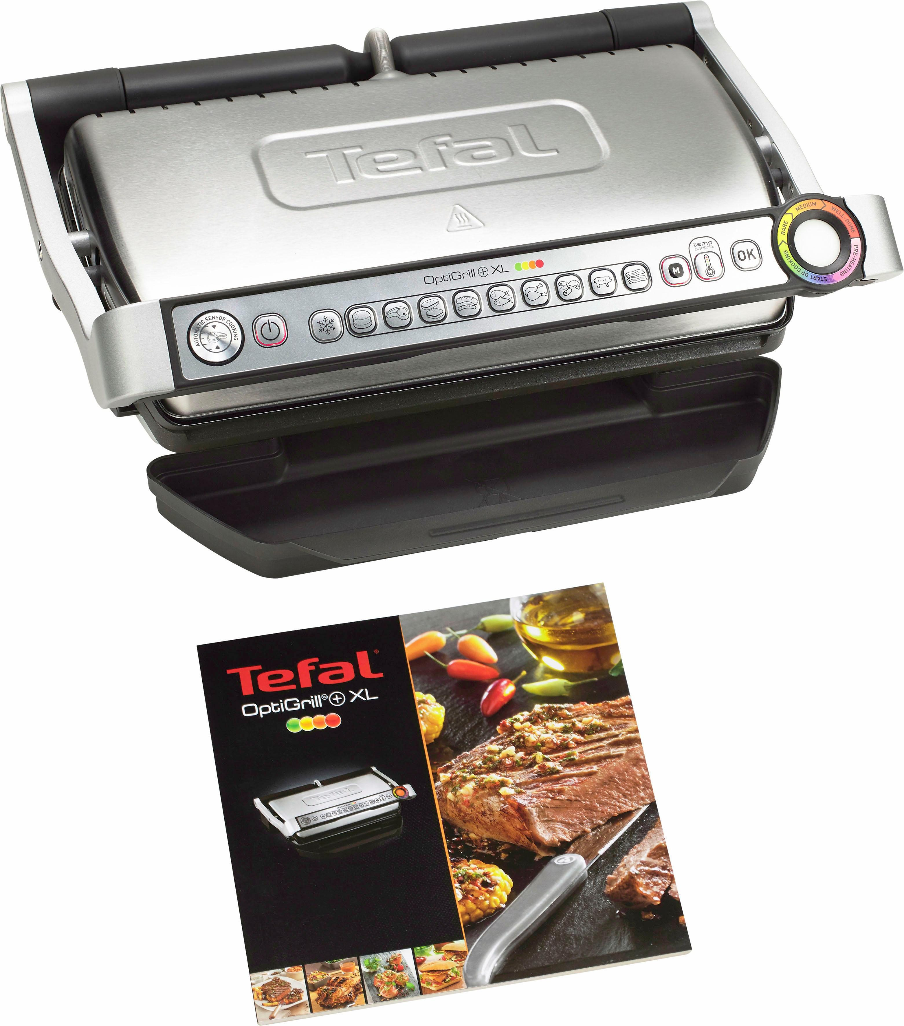 Tefal Tischgrill GC722D OptiGrill+ XL, 2000 W, 2000 Watt