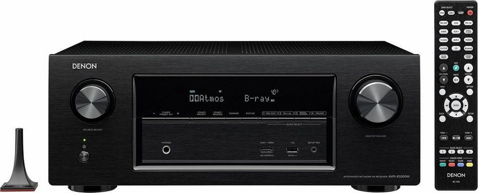 Denon AVR-X3300W 7 AV-Receiver (Hi-Res, 3D, Spotify Connect, Airplay, WLAN, Bluetooth) in schwarz