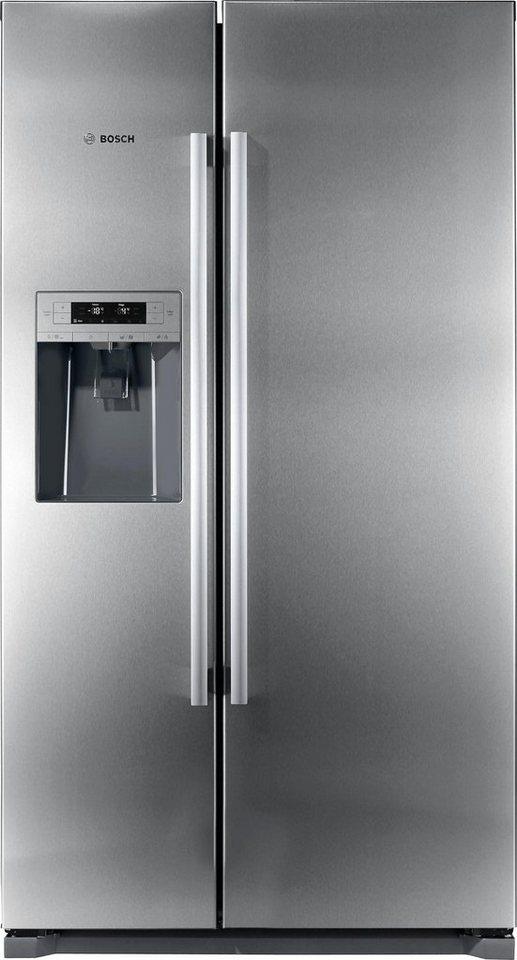 BOSCH Side-by-Side KAD90AI30, A++, 177 cm hoch, Ja, No Frost im Gefrierteil in edelstahl