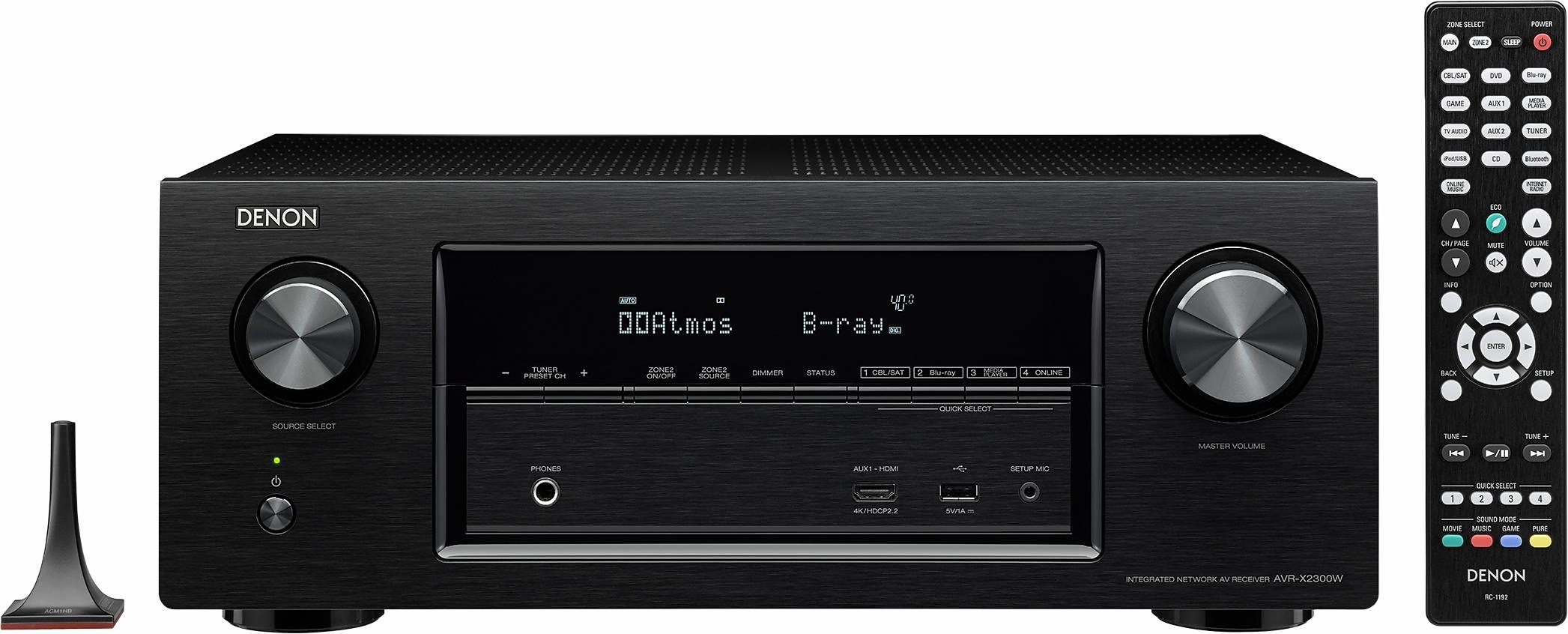 Denon AVR-X2300W 7 AV-Receiver (Hi-Res, 3D, Spotify Connect, Airplay, WLAN, Bluetooth)