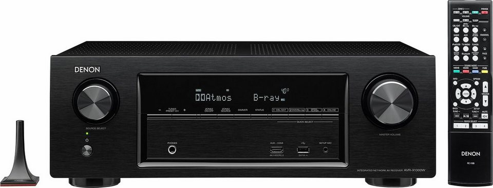 Denon AVR-X1300W 7 AV-Receiver (Hi-Res, 3D, Spotify Connect, Airplay, WLAN, Bluetooth) in schwarz