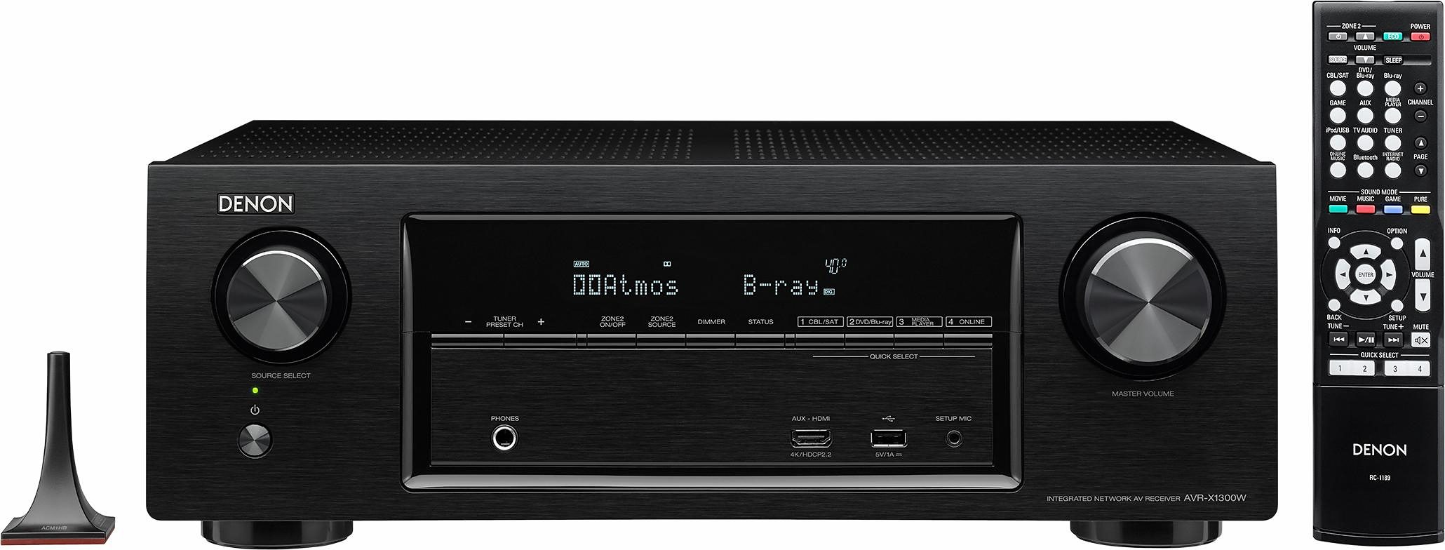 Denon AVR-X1300W 7 AV-Receiver (Hi-Res, 3D, Spotify Connect, Airplay, WLAN, Bluetooth)