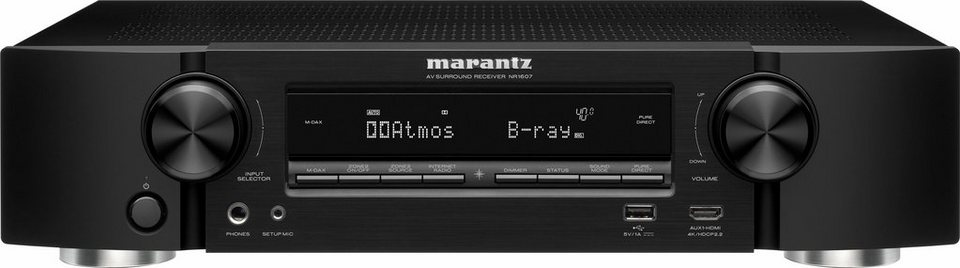 NR1607/N1 7 AV-Receiver (Hi-Res, Spotify Connect, Airplay, WLAN, Bluetooth) in schwarz