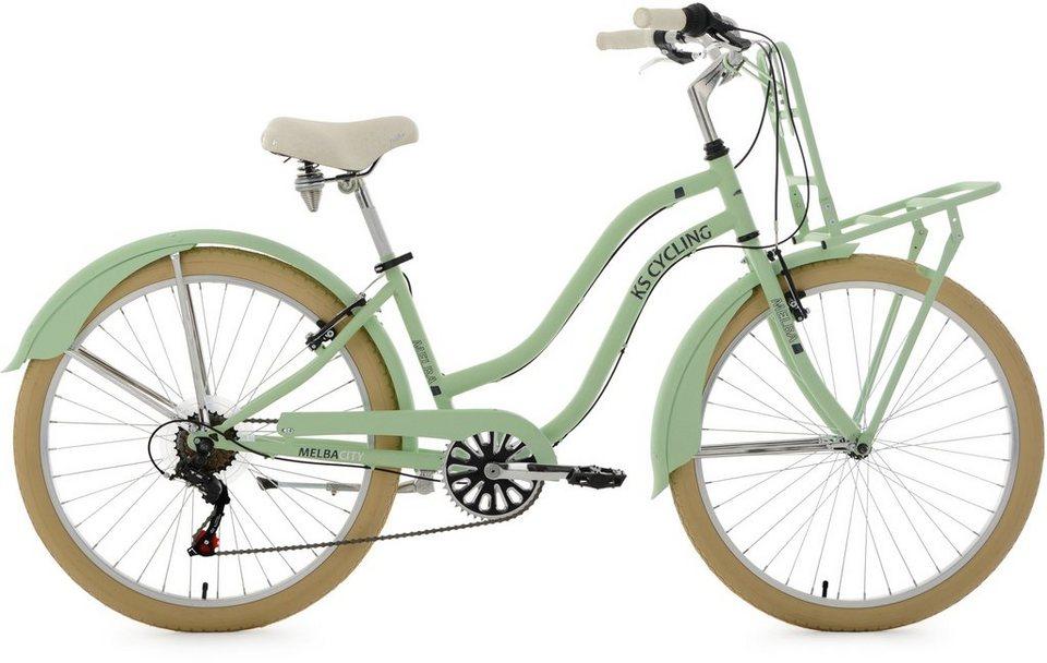 KS Cycling Beachcruiser, 26 Zoll, mintgrün, Shimano 6 Gang-Kettenschaltung, »Melba« in mintgrün