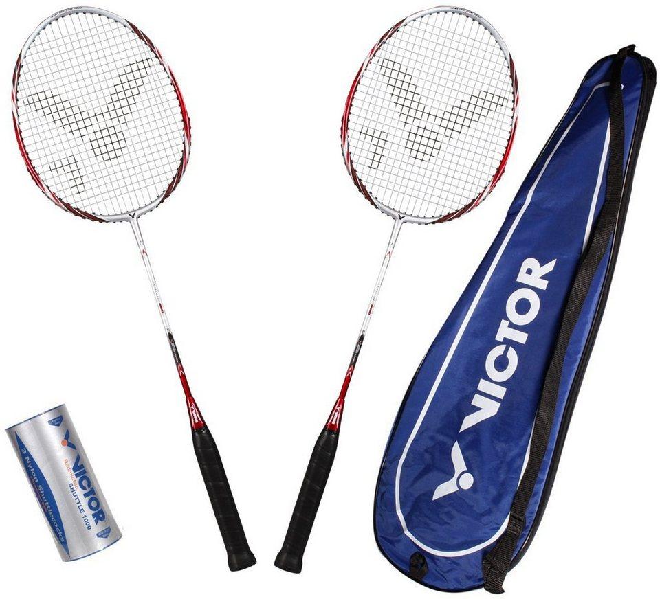 Badminton Set, Victor, »Atomos 500 Set« in rot