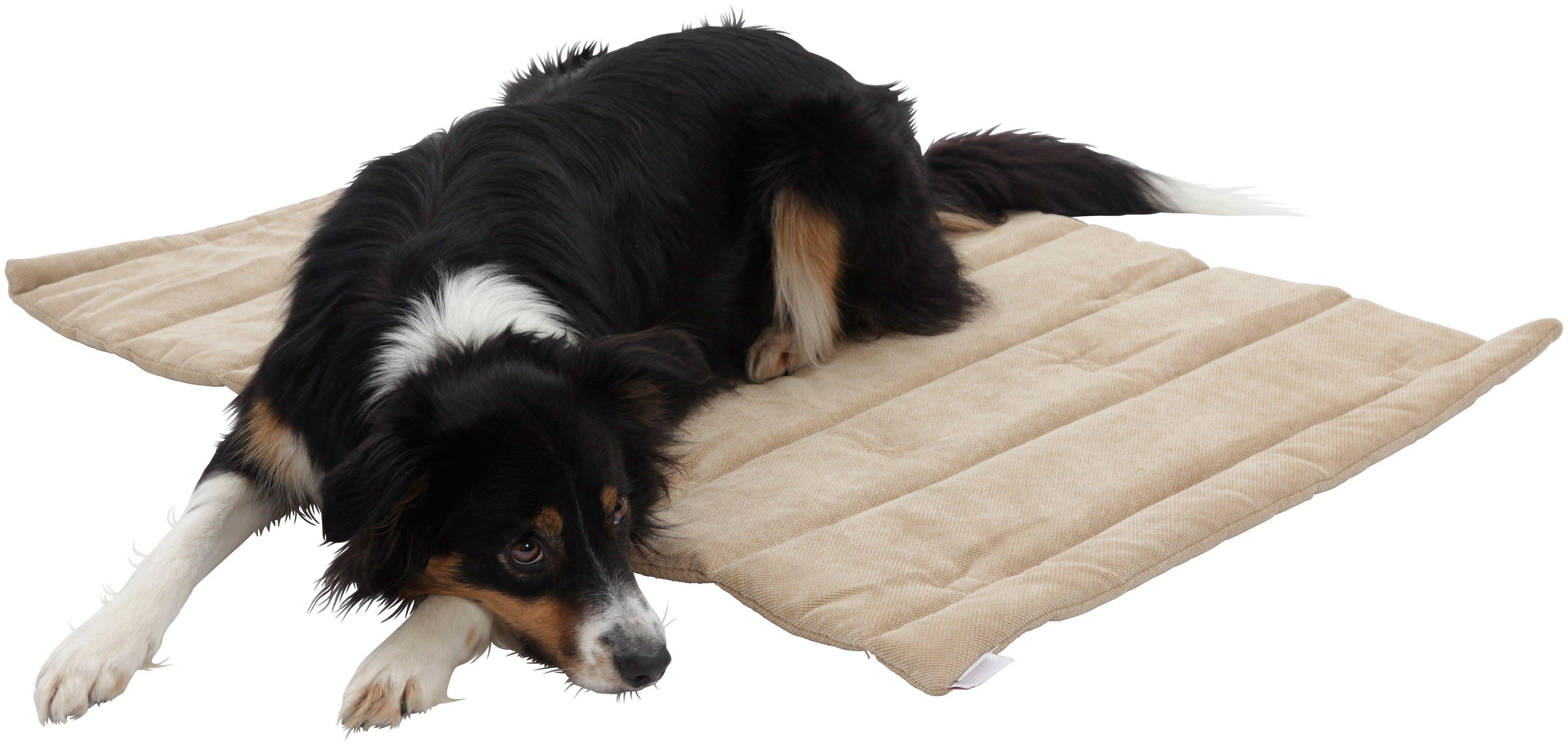 Hundedecke und Katzendecke »Mat Madison«, Reisedecke mit Tragegriff, LxB: 40x60 cm,sandfarben