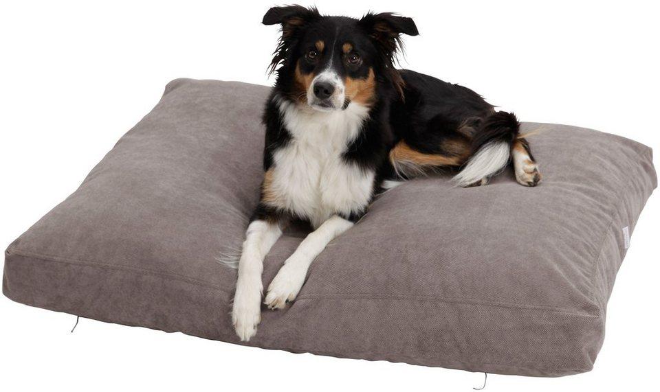 Hundekissen und Katzenkissen »Madison«, B/T/H: 100/80/10 cm, Grau in grau