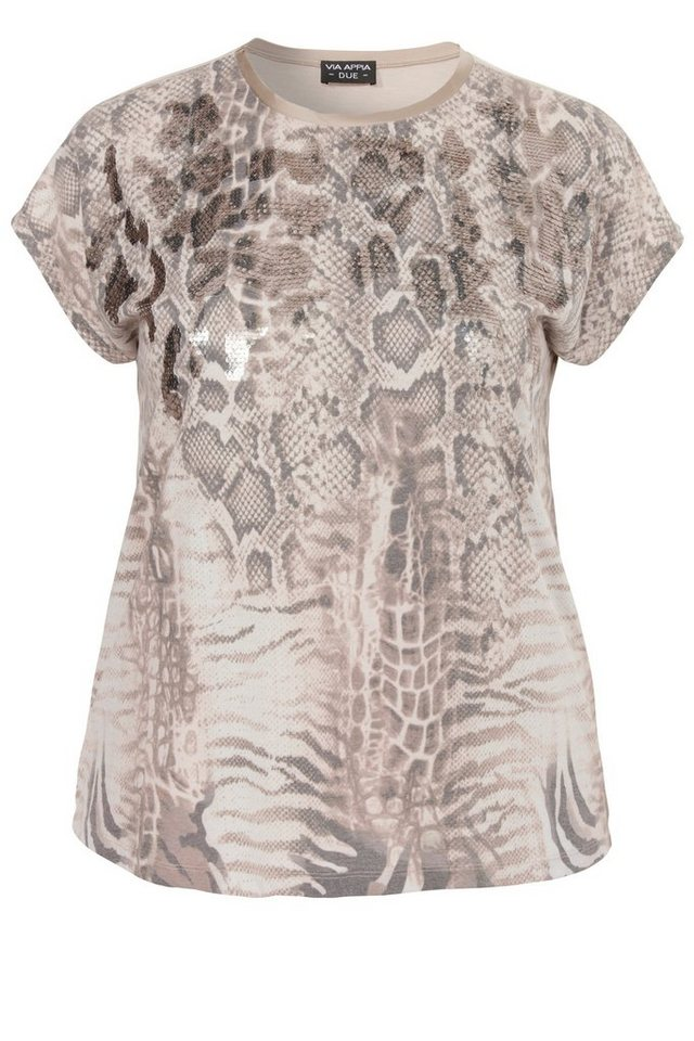 "VIA APPIA DUE Print-Top »""Modern Animal Deluxe""« in SAND MULTICOLOR"