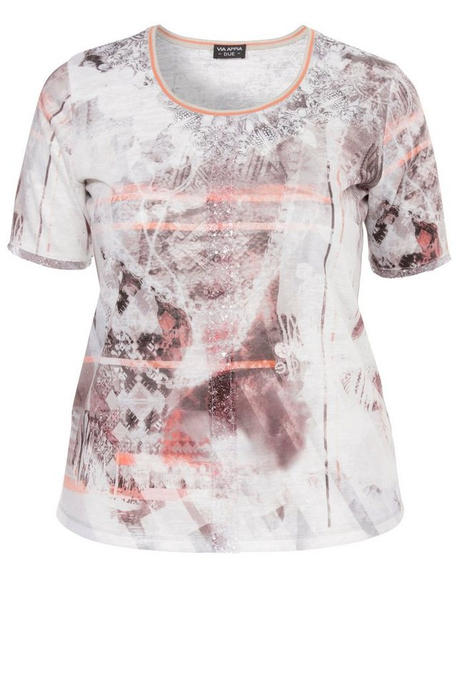 VIA APPIA DUE T-Shirt »mit Modern Ethno Print« in PAPAYA MULTICOLOR